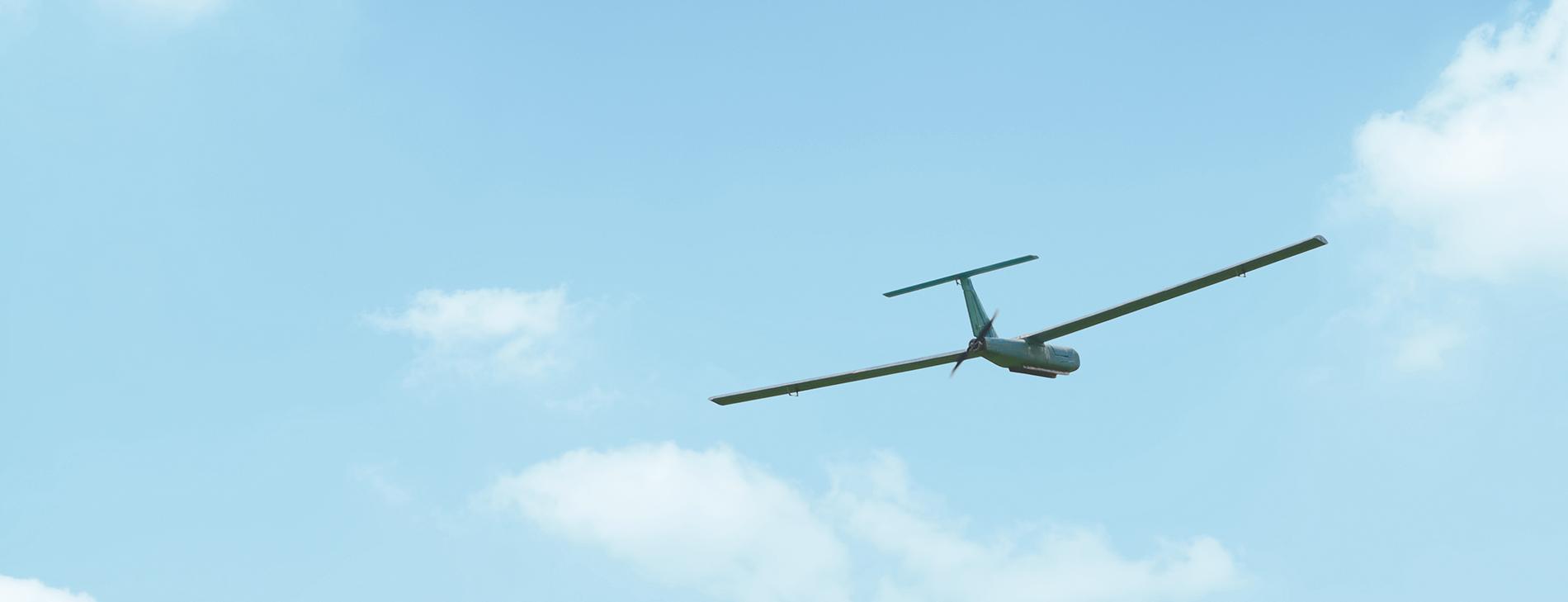 Eyercraft 2100 mini UAV flying