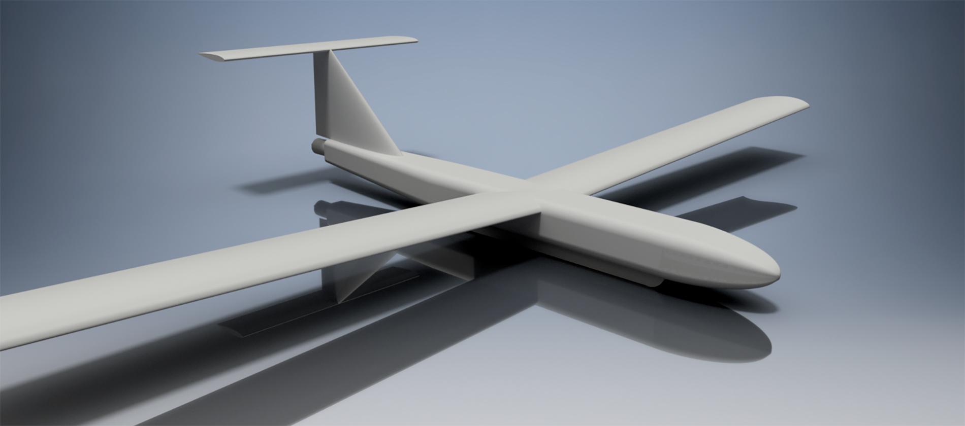 Eyercraft 2100 mini UAV render