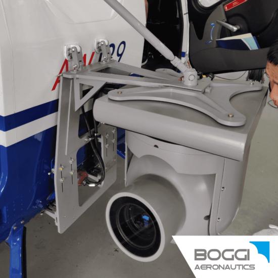 Boggi Aeronautics _ AW139 external camera mount RH payload 60 kg 42,5 also EASA STC Trakka Camera SWE-400 HDV 1