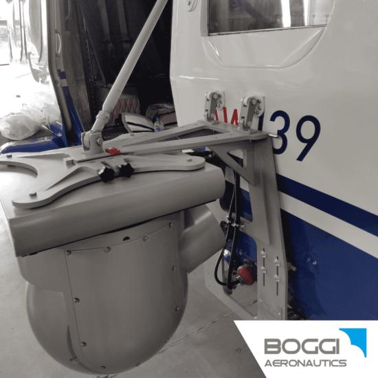 Boggi Aeronautics _ AW139 external camera mount RH payload 60 kg 42,5 also EASA STC Trakka Camera SWE-400 HDV 2