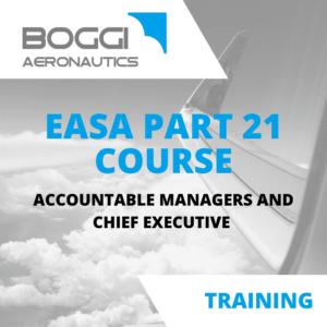 Boggi Aeronautics _ Aviation Training _ EASA Part21 course, accountable managers and chief executives